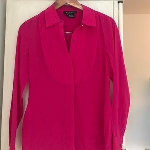 Fuchsia blouse - 100% silk